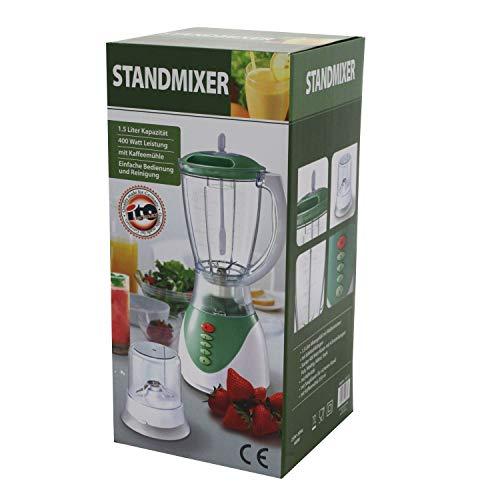 1,5L Standmixer, Mixer Smoothie Maker, Smoothiemaker, Milchshake, Cocktail, Smoothie, Shaker Mixer mit Kaffeemühle