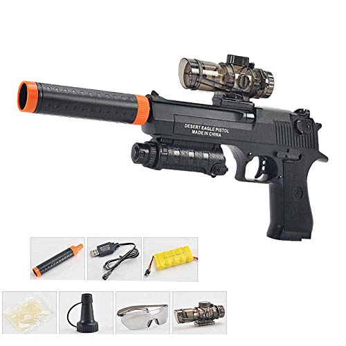 A&F Desert Eagle Water Gun Water Bullets Gun Toys For Boys Plastic Sniper Soft Paintball CS Games Outdoor Kids Weapon Toy Guns,Black