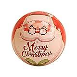 Christmas Hanging Decoration Ornaments,Jchen 1PC Tinplate Round Ball Boxes Santa Christmas Tree Hanging Ornaments for Christmas Home Party Wedding Decor (J)