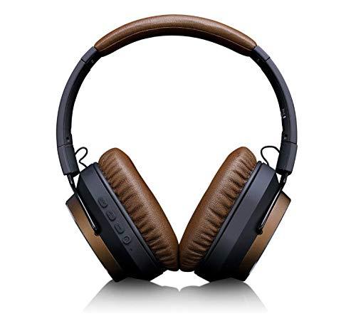 Lenco HPB-730 Bluetooth hoofdtelefoon - Active Noise Cancelling koptelefoon 22dB - handsfree functie - tot 30 uur speeltijd - opvouwbaar - robuuste oorbellen van metaal - Brown