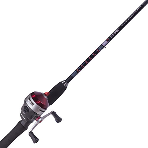 Zebco Rhino Spincast Reel and 2-Piece Fishing Rod Combo, Instant Anti-Reverse Fishing Reel, Size 30 (2016)