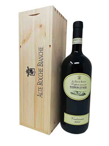 Vino Rosso Barbera d'Alba D.O.C. 1,5 Litri con elegante contenitore in legno
