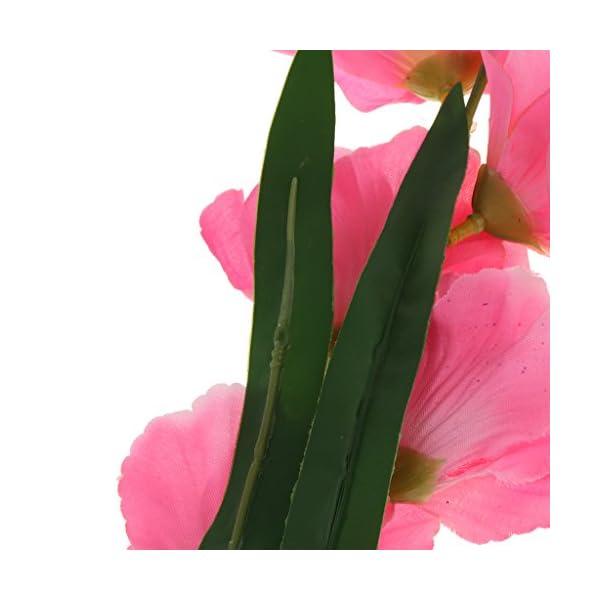 B Blesiya 2 Piezas Flores De Seda Artificial Gladiolo Arreglo De Flores Boda Decoración del Hogar