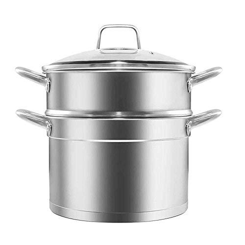 zyl Olla de Vapor para Alimentos vaporizador de Acero Inoxidable Olla de Vapor Espesada de 3 Capas Olla de Cocina de Gran Capacidad Olla multifunción para Cocina