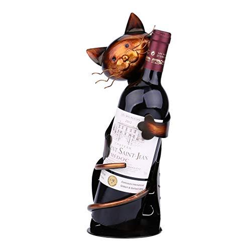 Galapare Porta bottiglie di vino, Cat pratica decorazione scultorea, Casa supporto del vino, Scaffale del vino del metallo, Mestieri decorazione d'interni per Casa Cucina Ristorante,Regalo casa nuova