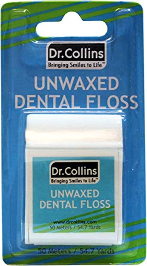 Dr. Collins Unwaxed Floss, 55 yd (50.3m) Package