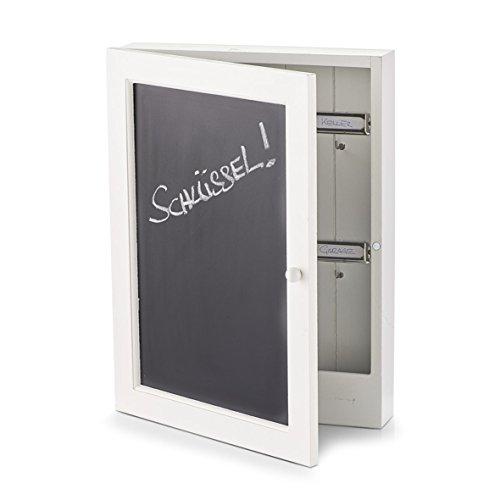 Zeller 15124 Schlüsselkasten Tafel, MDF, schwarz, ca. 22 x 5 x 30 cm