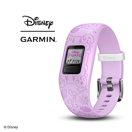 Garmin vivofit jr. 2, Kids Fitness/Activity Tracker, 1-year Battery Life, Adjustable Band, Disney Princess, Purple