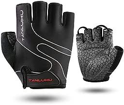 TanluhuCyclingGlovesBikeGlovesBiking Gloves HalfFinger BicycleGloves-Anti-SlipShock-Absorbing Padded Breathable Road Mountain BikeGloveforMenWomen