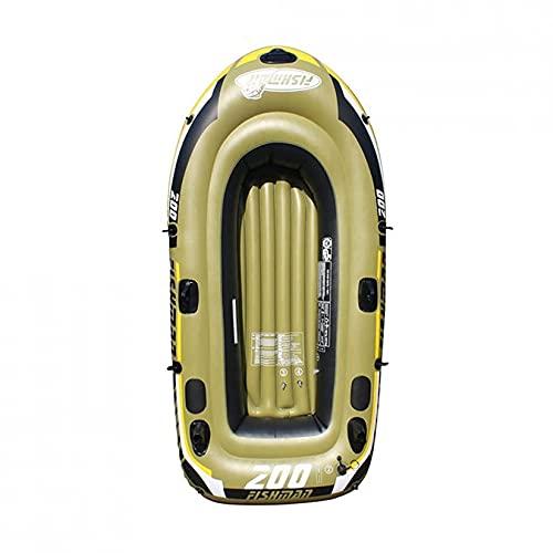 KUANDARMX Kayak Resistente Al Desgarro, Canoas De Pesca Inflables Kayaks con Chaleco Salvavidas, Bote Inflable para Lagos, Pesca Y Costa, Rafting Al Aire Libre
