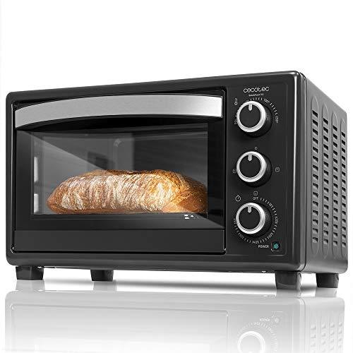Cecotec Horno Sobremesa Bake&Toast 550. Capacidad de 23 litros, 1500 W, 3 Modos, Temperatura hasta 230ºC, Puerta doble cristal
