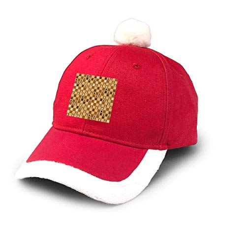 GGdjst Weihnachtsmützen, Chess Icons On Chessboard Christmas Hats Red Santa Baseball Cap for Kids Adult Families Celebrate New Year Party