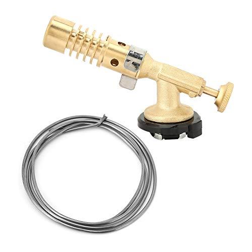 Taschenlampe Feuerzeug, tragbare Küche Lötlampe Chefkoch Gasbrenner Flame Gun, mit Einstellbarer Flamme, Max 1300 ℃, zum Kochen Barbecue Schmuck, DIY Löten