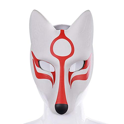 Amosfun Máscara Fox Cosplay Máscara de Halloween Mascarada