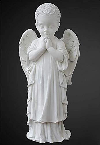 Figuras de estatuas de querubines rezando de pie, mármol, decoración del jardín del hogar, boda, Navidad, alas de niños para interiores y exteriores, esculturas de ángel K 29x13x11cm (11x5x4 pulgada
