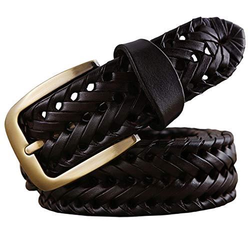 Cinturón trenzado Hombre Moda Cinturones para hombres Cuero genuino lujo...