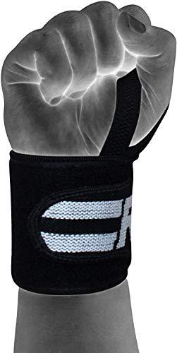 Authentische RDX Handgelenk Gewichtheben Training Gym Griff Handschuhe Body Building B D - 6