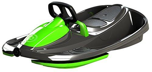 Airjoy Lenkbob Kunststoffrodel Schlitten Snow Champ Deluxe - Black-Green