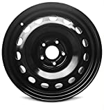 jeep 17 rims - Road Ready Car Wheel For 2015-2019 Jeep Renegade 16 Inch 5 Lug Black Steel Rim Fits R16 Tire - Exact OEM Replacement - Full-Size Spare