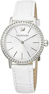 Swarovski White Leather Silver dial Watch for Women's 5261475