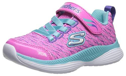 Skechers Mädchen Move 'N Groove Sparkle Spinner Sneaker, Pink (Pink Sparkle Mesh/Turquoise & Multi Trim Pktq), 31 EU