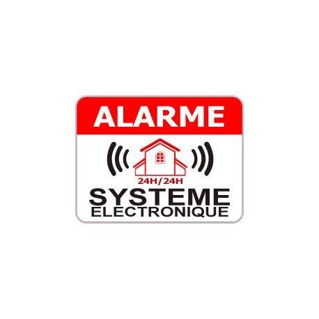 Stickers alarmsysteem, elektronisch, Logo 771, 12 stuks 12 cm