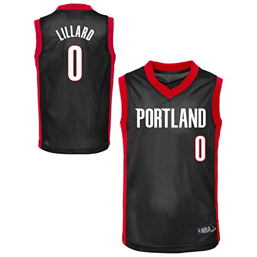 Outerstuff NBA Toddler Team Color Player Name & Number Replica Road Jersey (3T, Damian Lillard Portland Trail Blazers Black)