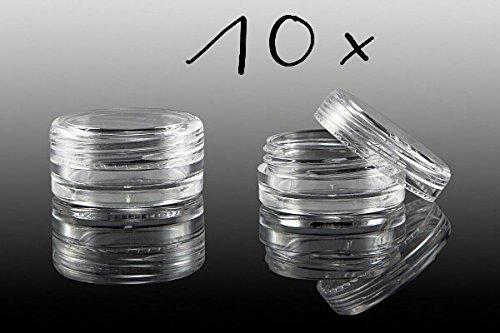 NEW Nail Art 10 x Boîte Vide Avec Couvercle À Visser, pot transparent boîte de rangement Boîtes accessoires