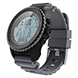 GPS Smart Watch Outdoor Running Swimming Professional Waterproof Fitness Sports Heart Rate Air Pressure Altitude Temperature Various Modes of Movemen (Gray)