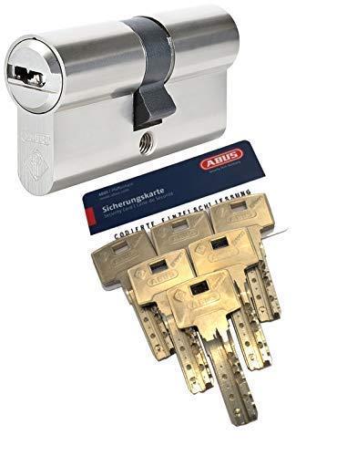 ABUS Bravus.4000 Hochsicherheits - Doppelzylinder mit 6 Schlüssel, Länge 30/35mm mit Sicherungskarte und höchstem Kopierschutz, Zusatzausstattung: Not- u. Gefahrenfunktion und erhöhter Bohr- u. Ziehschutz BS01 (Ziehschutz nur kernbezogen)