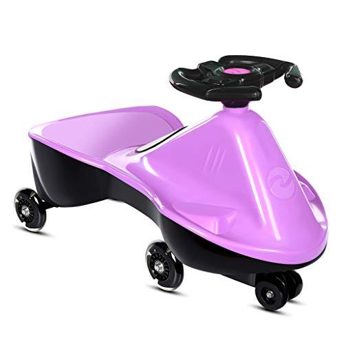 Enfants Twist Car 1-3 Ans Infant Garçons et Filles Baby Yo Car Girl Car Universal Wheel Wheel FANJIANI (Couleur : Violet)
