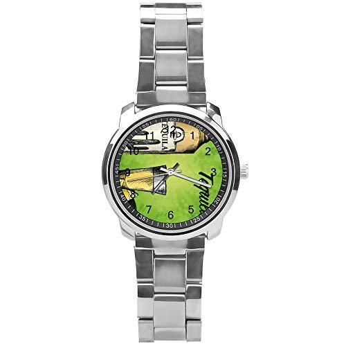 Soloatman Tequila Horloge Polshorloge Analoog Horloge met Staal Band Jongens Jongens Horloge