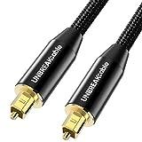 UNBREAKcable Cable Optique Audio 3M [Plaqué Or] Cordon Optique Numérique Toslink...