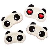 Cute Eye for Sleeping,Advien Panda Sleeping Mask,Elasticity Headband Soft and Light for Insomnia Plane Travel Nap Night Sleeping【4 Pack】