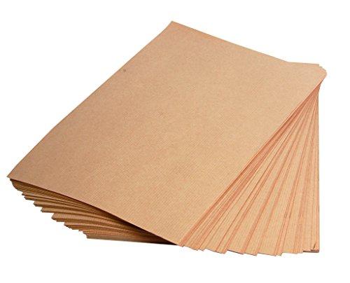 Clairefontaine 975007C Packung mit 25 Blatt Kraftpapier (160g, DIN A4, 21 x 29,7 cm, ideal für Kunstprojekte und zum Einpacken) braun
