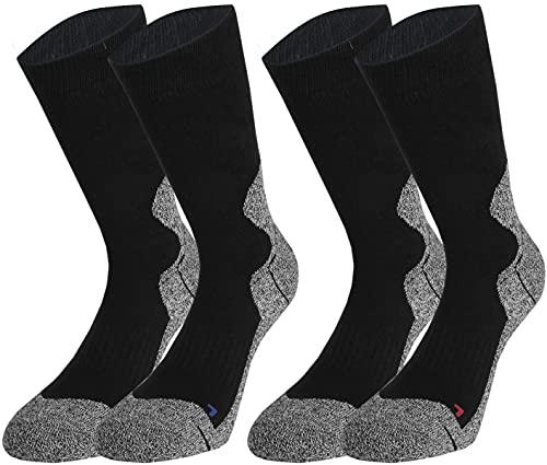 Vitasox Damen und Herren Outdoor Socken Funktionssocken Trekkingsocken Wandersocken Sportsocken XXL 42965 schwarz 2 Paar 50-52