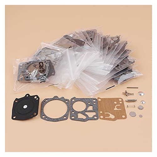 Kit de reparación de diafragma de carburador de 20pcs / lote para S-TIHL 031 AV 031AV para J-ONSERED 625 630 670 Piezas de repuesto de motosierra