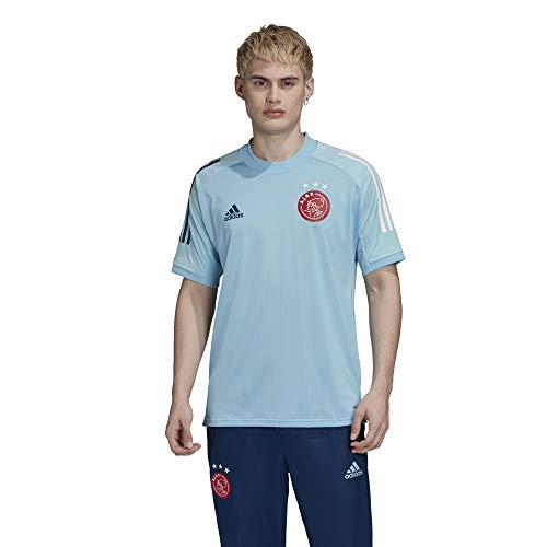 adidas Ajax Amsterdam Saison 2020/21 Ajax TR JSY T-Shirt d'entraînement Mixte Adulte, Mixte, T-Shirt d'entraînement, FI5195, Bleu (azuhie), XXXL