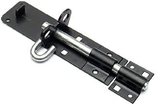 Bulk Hardware BH04256 75 x 40 mm Negro Seguridad Cerrojo y Grapa Plata