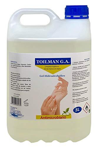 Sosmi MASH0009 Gel Sanitario Hidroalcoholico, Mata el 99,9% de Agentes...