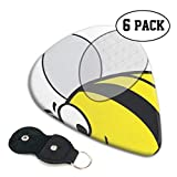 Bumblebee Bumble Bee Bee Wasp Insect Hornet Fat Costume Guitar Picks Guitar Picking 6 Pack Heavy 0.46 MM Gift For Bass,electric & Acoustic Guitars