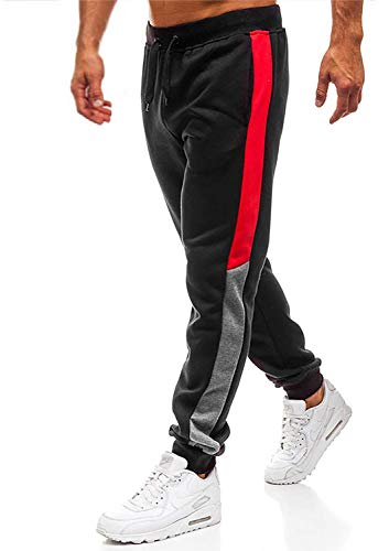 Yidarton Mens Sweatpants Men Casual Pants Mens Joggers Leisure Fashion Sport Pants Black