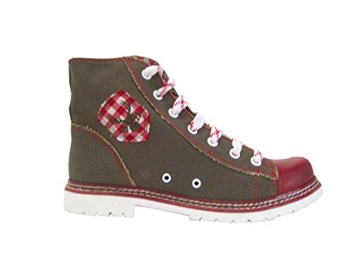Spieth & Wensky Trachten Boots - Jacky - braun/rot/rot, Größe 38