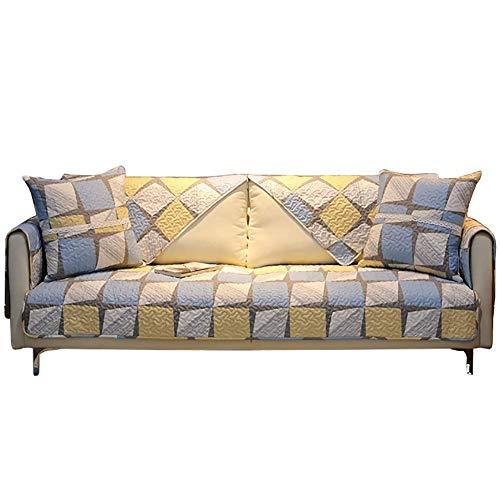 RTYUI Funda de sofá seccional en forma de L para mover mascotas, funda de sofá de protección de muebles, funda de sofá acolchada decorativa de algodón B 1 unidad 90 x 90 cm para jardín