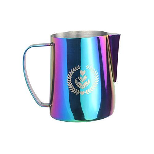 Jarras de agua grande jugo de té helado jarra medida jarra jugo bebida jarra jarra vino jarra té leche café bebidas calientes y frías 600 ml, acero inoxidable 304-1