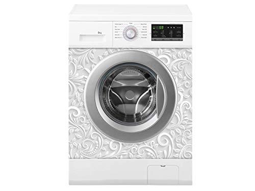 Oedim Waschmaschine weisser Druck | Verschiedene Maße 70 x 70 cm | Beständiger und leicht aufzutragender Klebstoff | Eleganter Entwurfs-dekorativer klebender Aufkleber