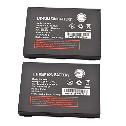High-Batt W-9 Battery, 4340mAh 3.8V for Verizon Jetpack Compatible with Verizon Jetpack 4G LTE Mobile Hotspot AC791L,Netgear AC810 AT&T Unite Explore 815S Verizon Jetpack AC791L Hotspot (Pack of 2)