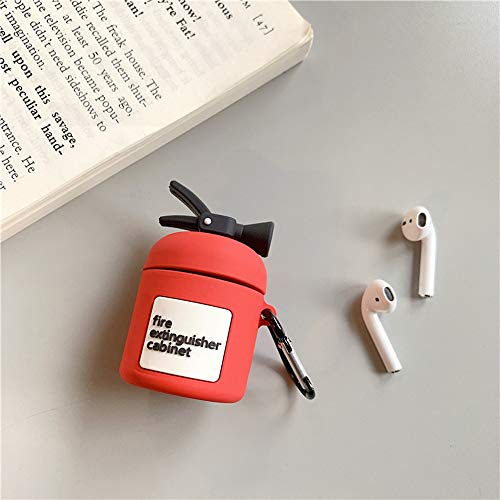 Creative Simulation Fire Extinguishers Firefighter Compatible AirPods Case Cover Silicone Protective Skin for Apple Airpods Charging Case