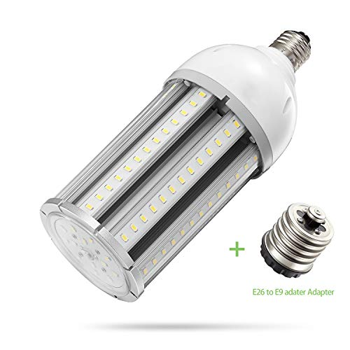 AINIYO TQW-08 36w Led Corn Bulb E26/E39 Base, 5000K Daylight 4680lm,CFL HID HPS Metal Halide Replacement(150w) for Street and Area Post Top Acorn Warehouse High Bay Garage Garden Light Super, White