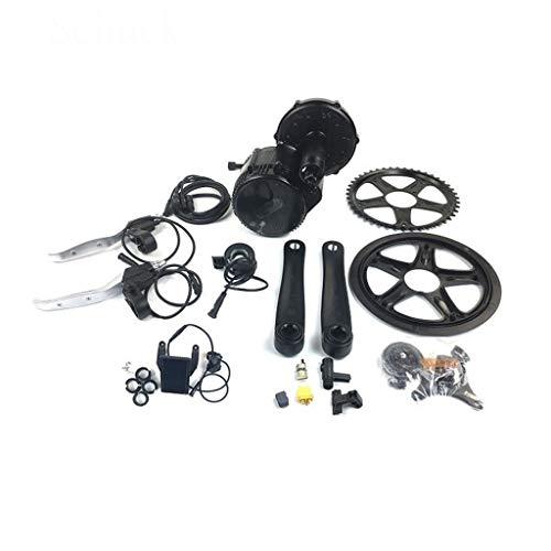 GGD Elektro-Fahrrad-Zubehör-Kit 36V48V 350W Mid Drive Motor E-Bike Conversion Kit 850c Elektro-Fahrrad 8FUN Leistungsfähiger Motor 44T 46T 48T 52Tfor Rennrad mit Batterie,46T-48V350W